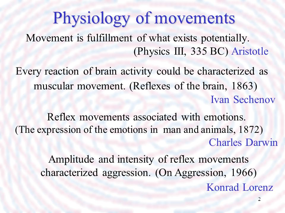 Physiology of movements
