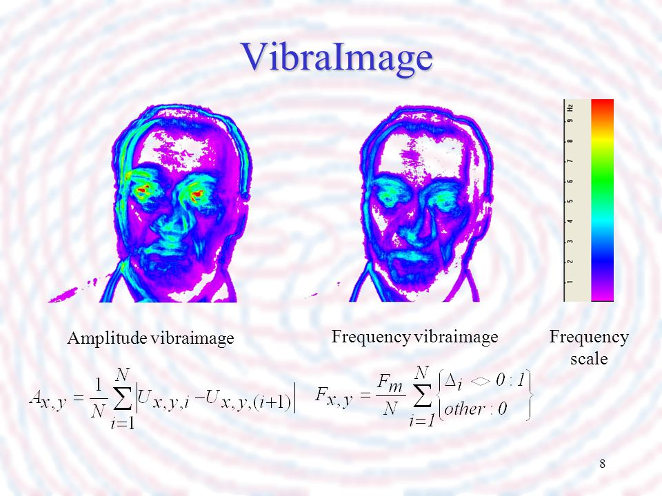 VibraImage Amplitude vibraimage Frequency vibraimage Frequency scale
