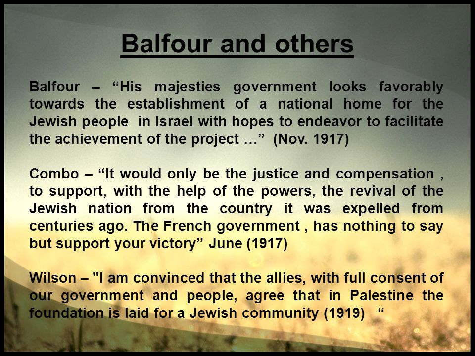 Balfour and others