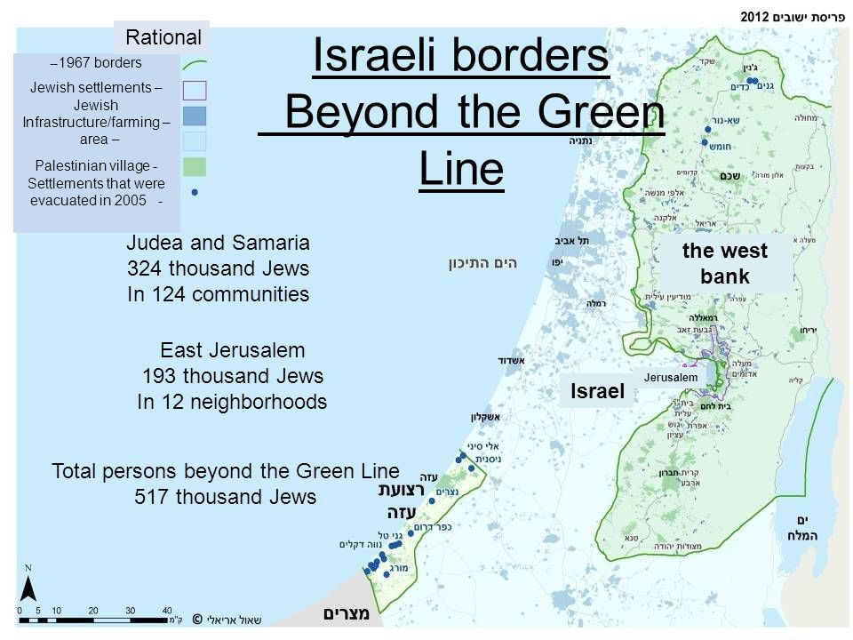 Israeli borders Beyond the Green Line
