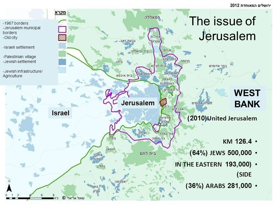 The issue of Jerusalem WEST BANK Jerusalem Israel