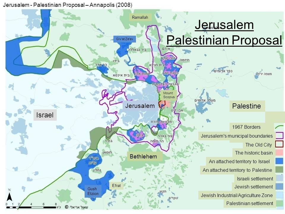 Jerusalem Palestinian Proposal Palestine Israel Jerusalem