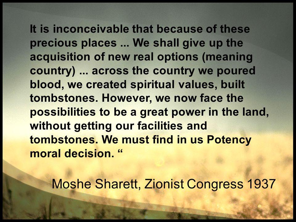 Moshe Sharett, Zionist Congress 1937