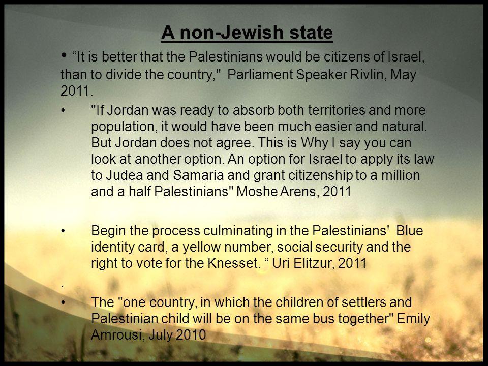 A non-Jewish state