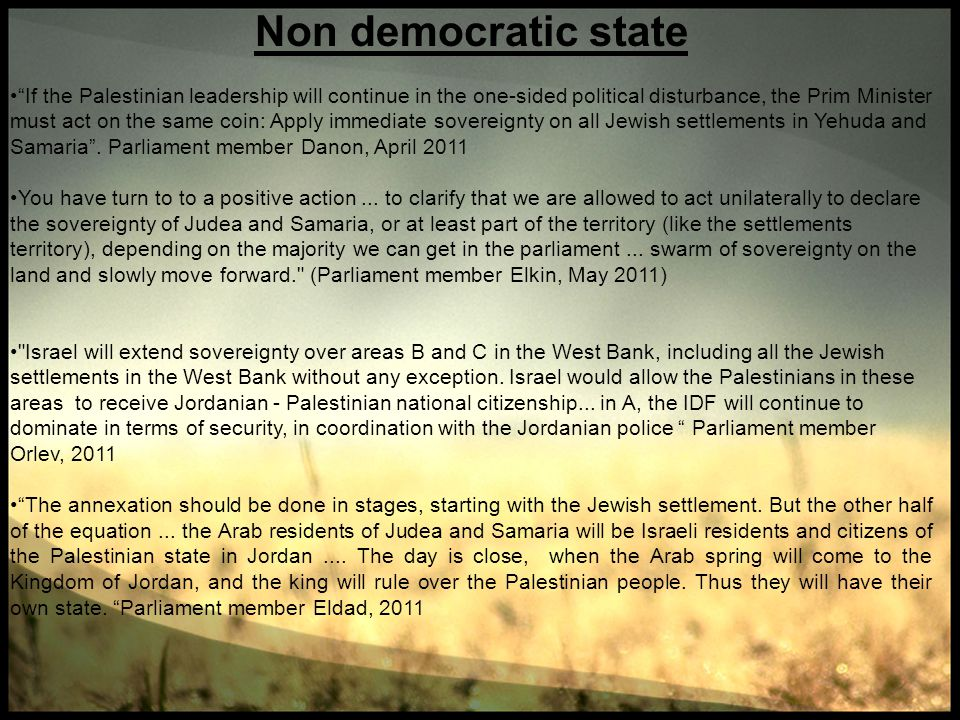 Non democratic state