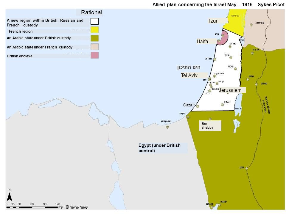 Rational Allied plan concerning the Israel May – 1916 – Sykes Picot