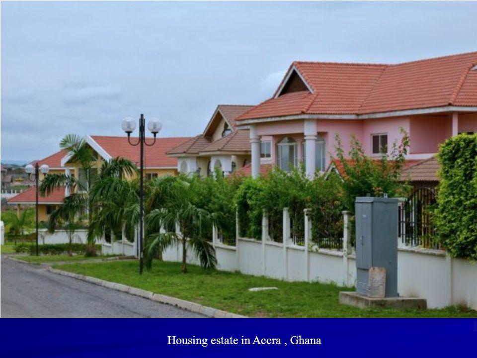 Housing estate in Accra , Ghana