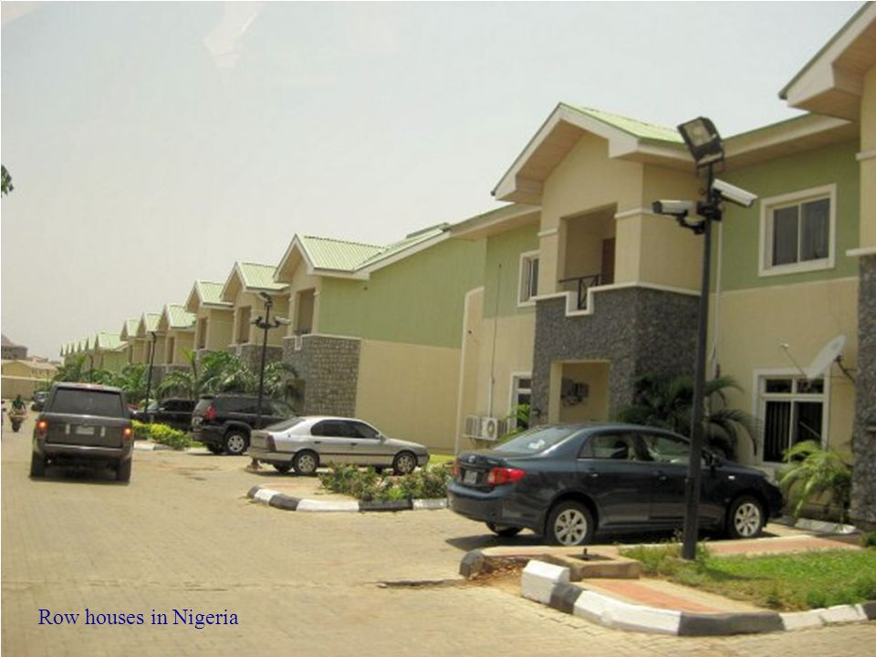 Row houses in Nigeria