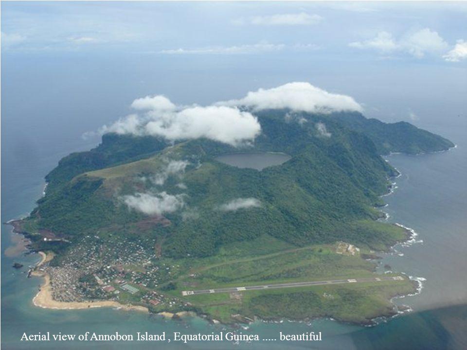 Aerial view of Annobon Island , Equatorial Guinea ..... beautiful