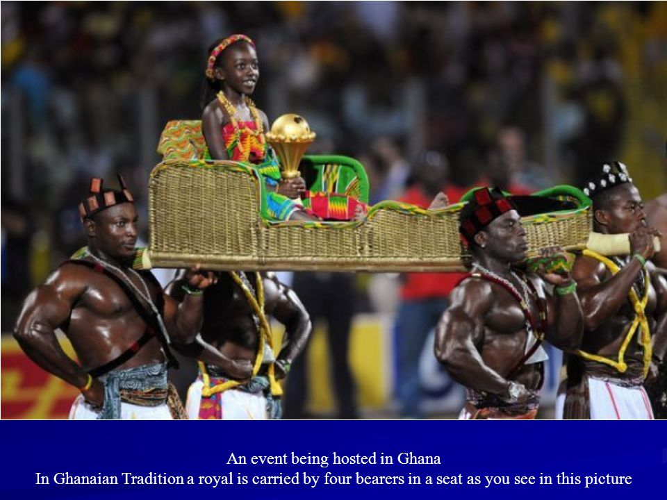 An event being hosted in Ghana