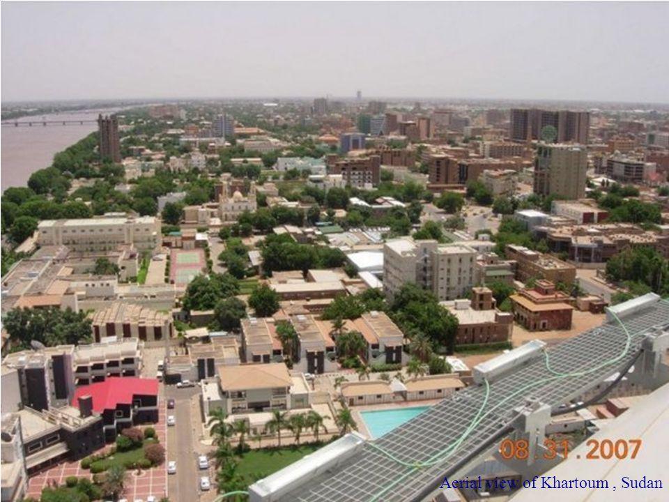 Aerial view of Khartoum , Sudan
