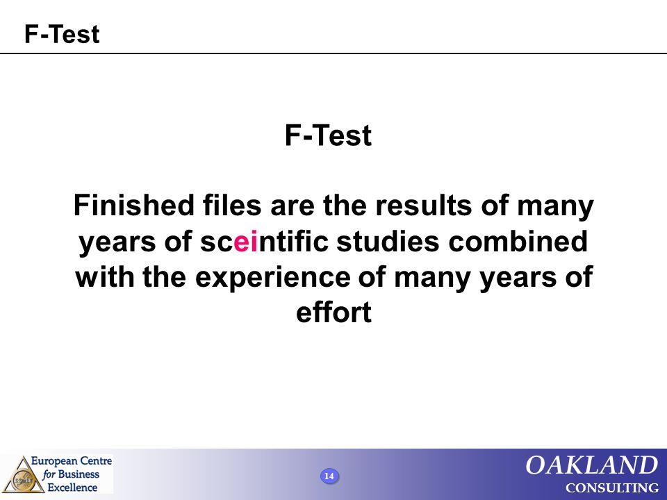F-Test F-Test.