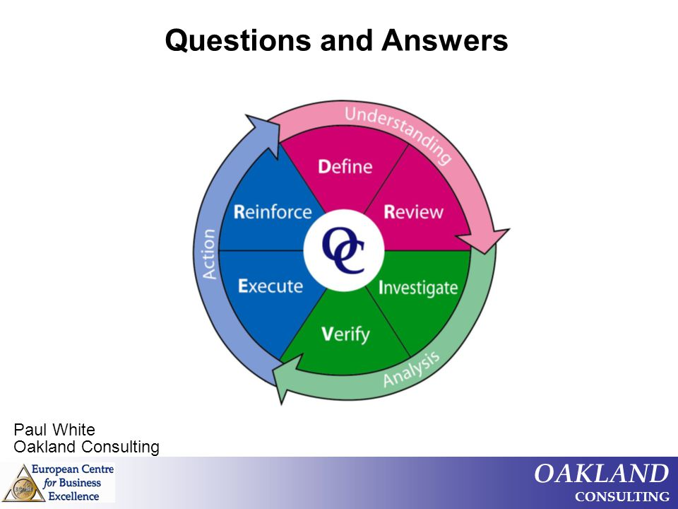 Questions and Answers Paul White Oakland Consulting