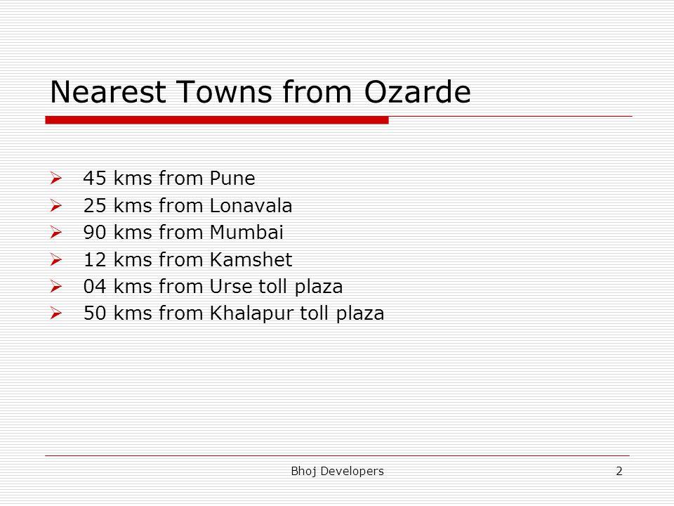Nearest Towns from Ozarde