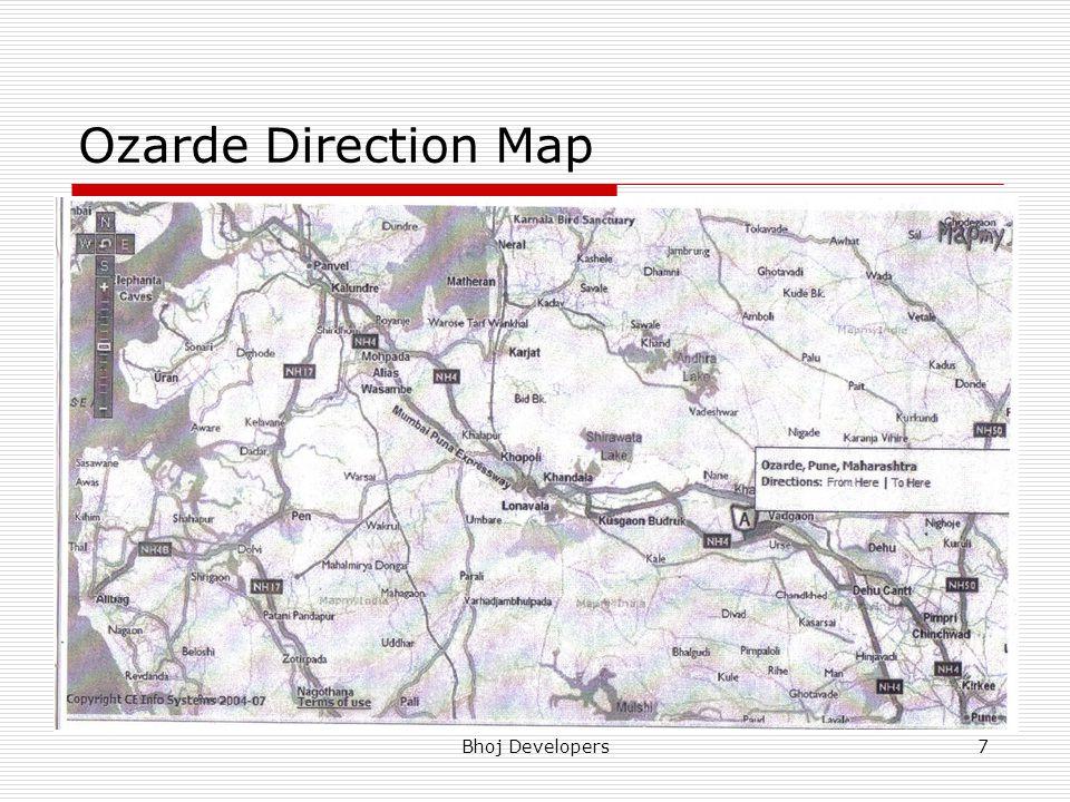 Ozarde Direction Map Bhoj Developers