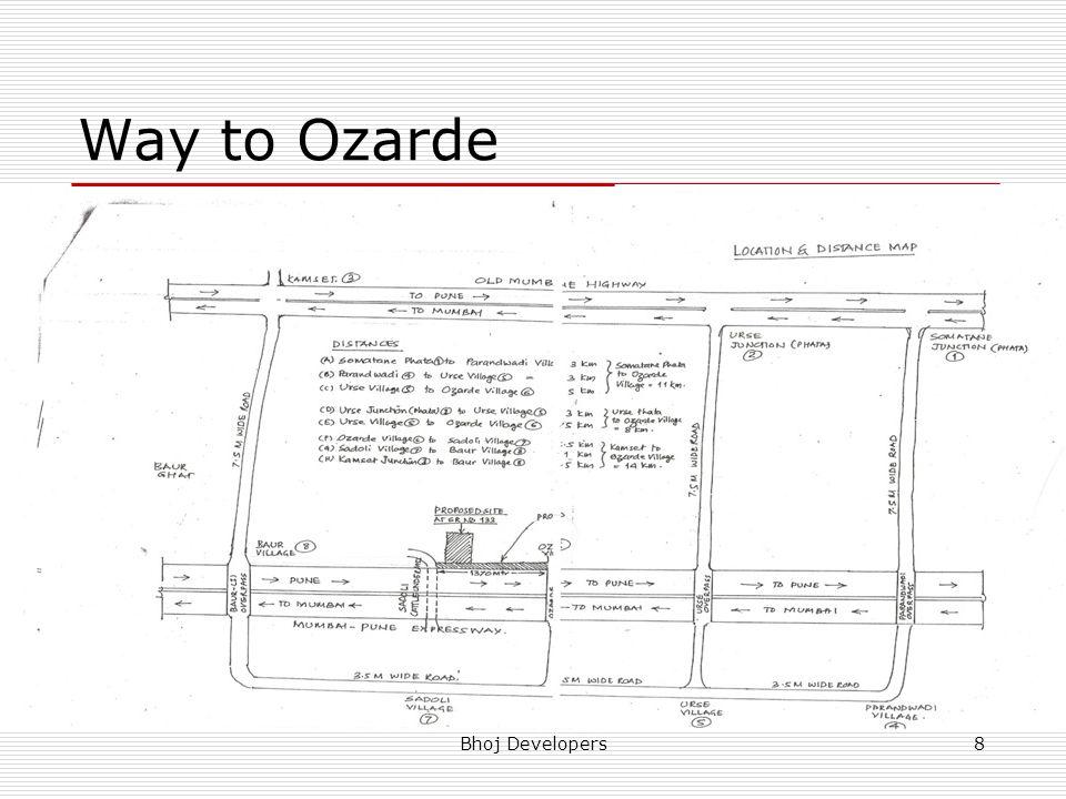 Way to Ozarde Bhoj Developers