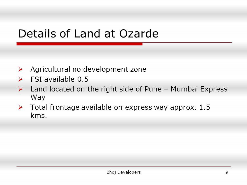 Details of Land at Ozarde