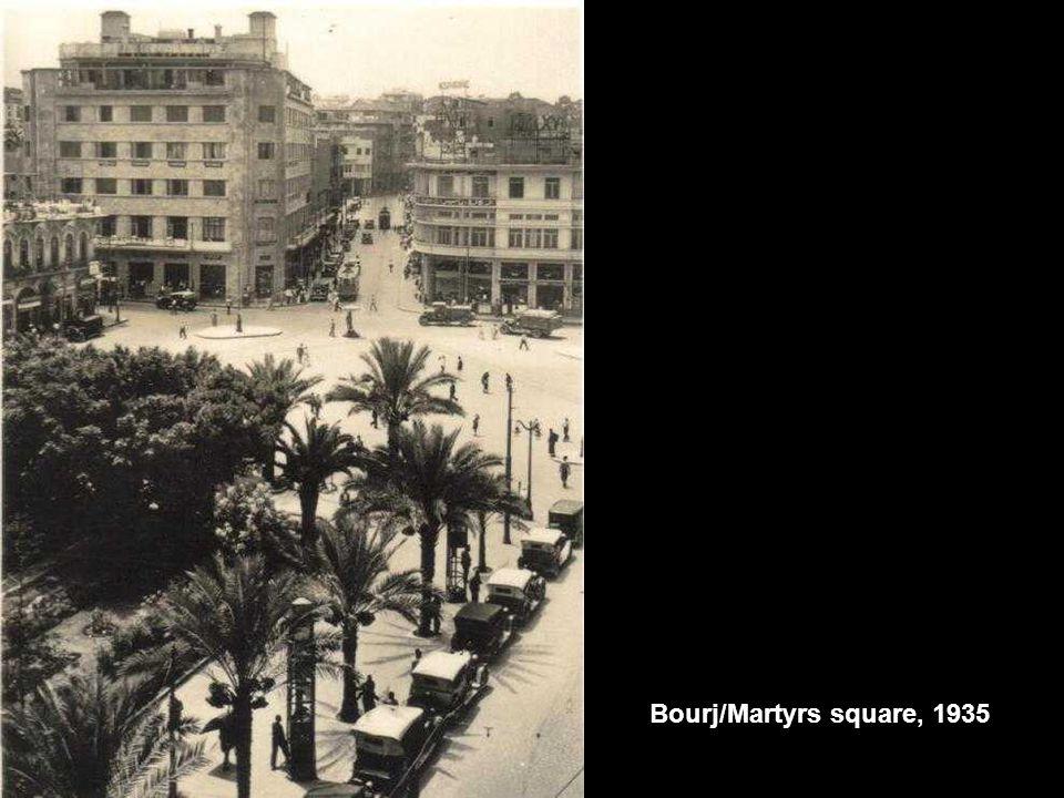 Bourj/Martyrs square, 1935