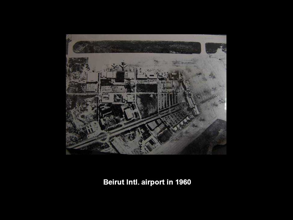 Beirut Intl. airport in 1960