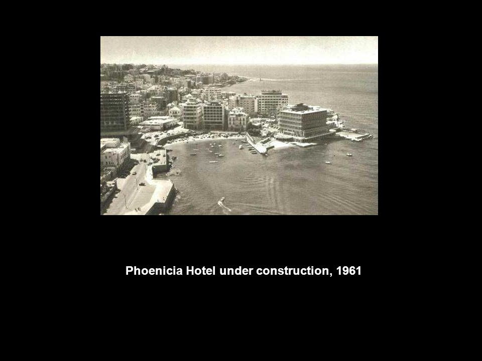 Phoenicia Hotel under construction, 1961