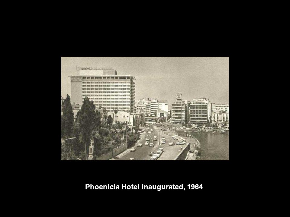 Phoenicia Hotel inaugurated, 1964