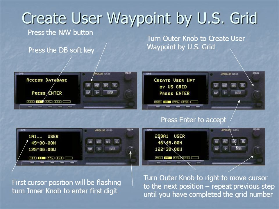Create User Waypoint by U.S. Grid