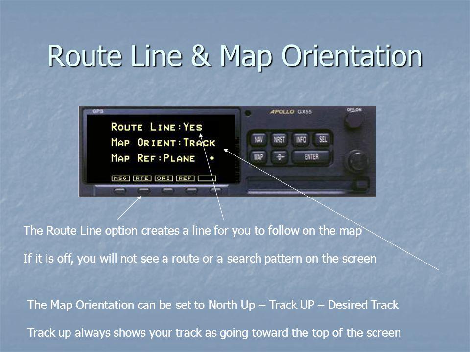 Route Line & Map Orientation