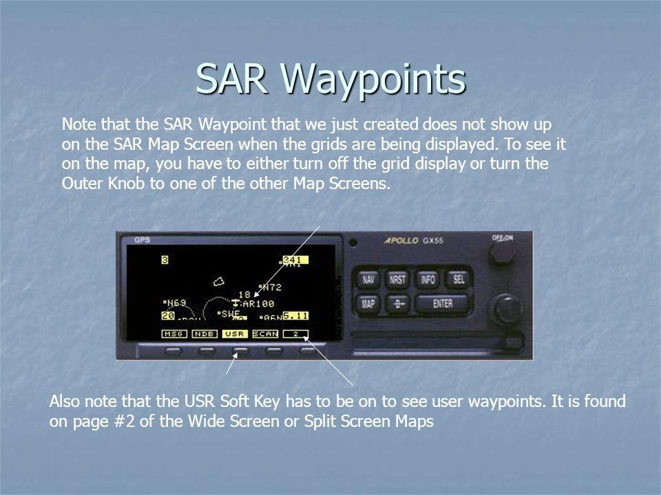 SAR Waypoints