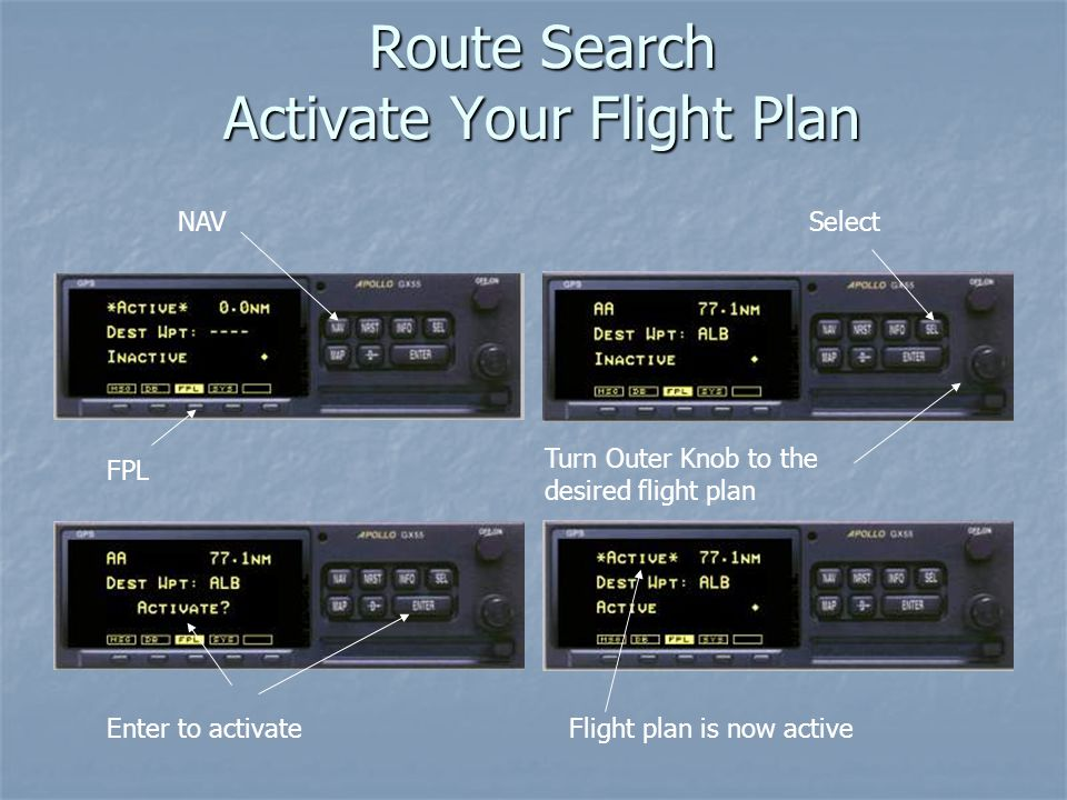 Route Search Activate Your Flight Plan