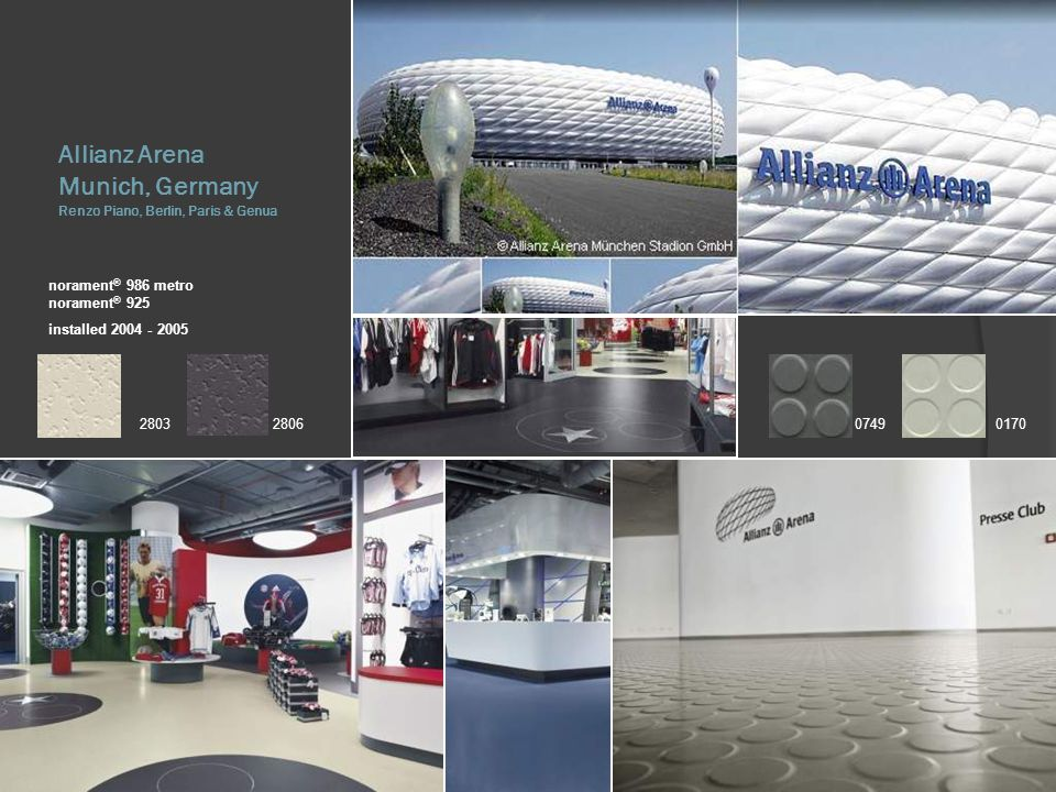 Allianz Arena Munich, Germany Renzo Piano, Berlin, Paris & Genua