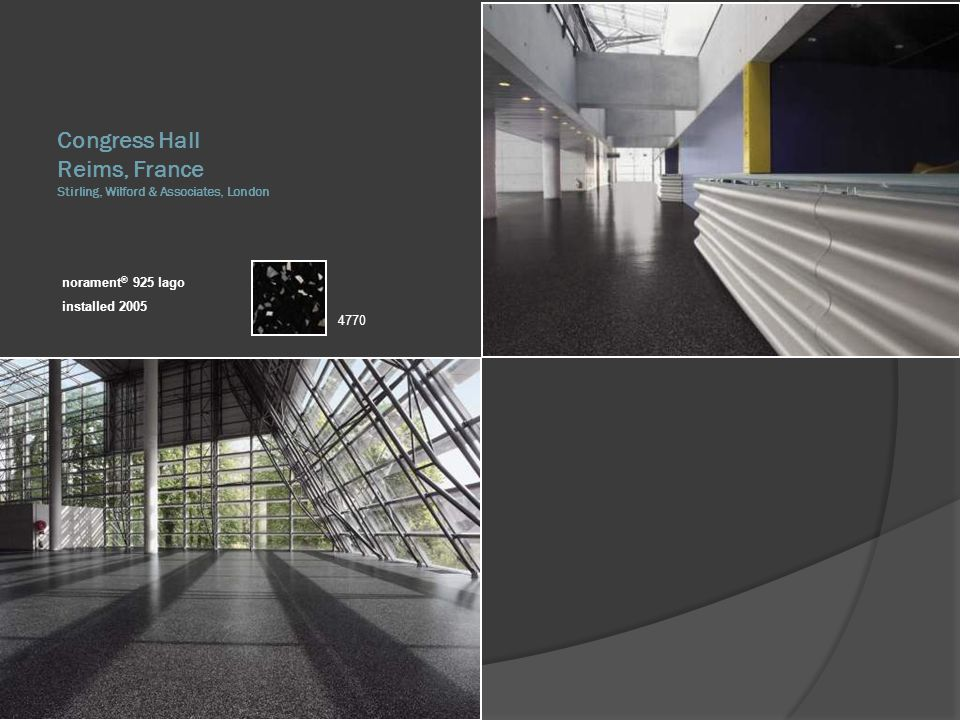 Congress Hall Reims, France Stirling, Wilford & Associates, London