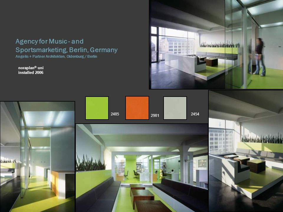 Agency for Music - and Sportsmarketing, Berlin, Germany Angelis + Partner Architekten, Oldenburg / Berlin