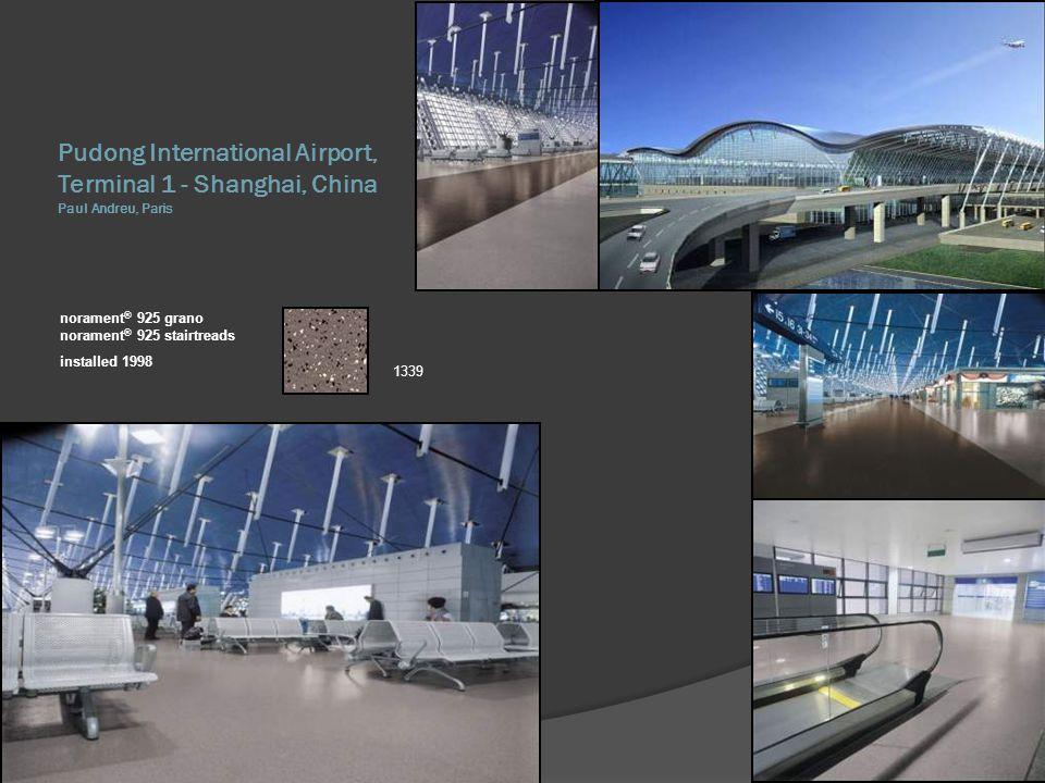 Pudong International Airport, Terminal 1 - Shanghai, China Paul Andreu, Paris