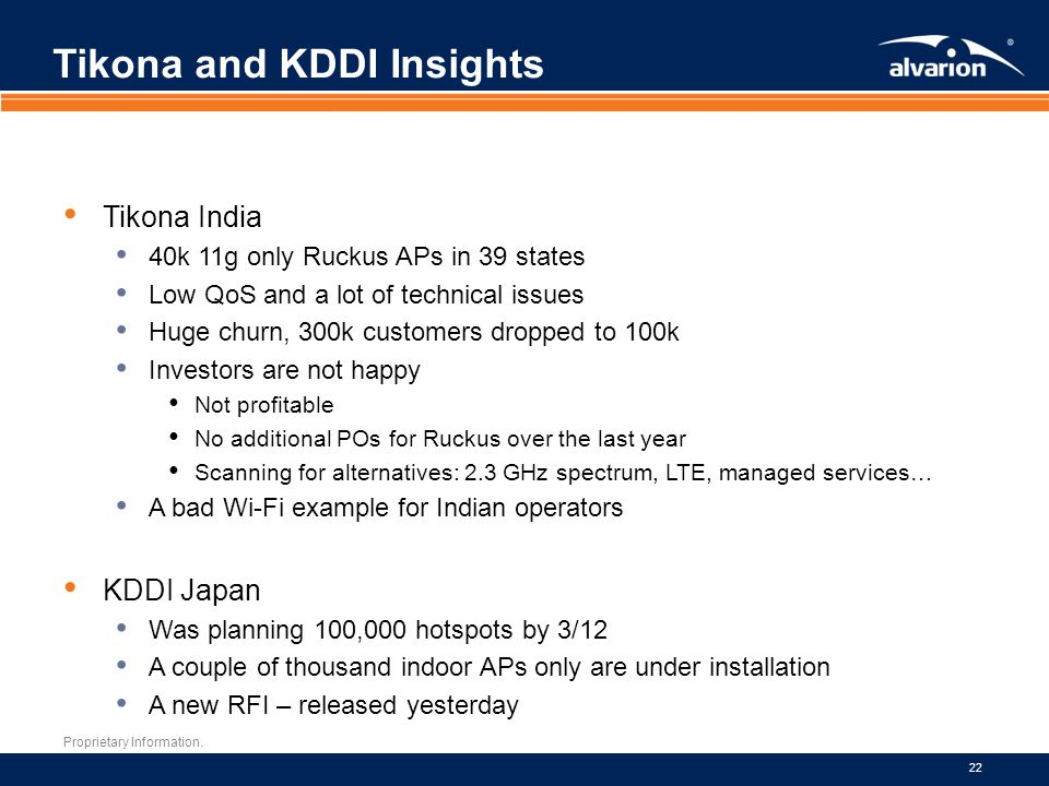 Tikona and KDDI Insights