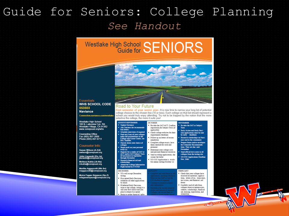 Guide for Seniors: College Planning