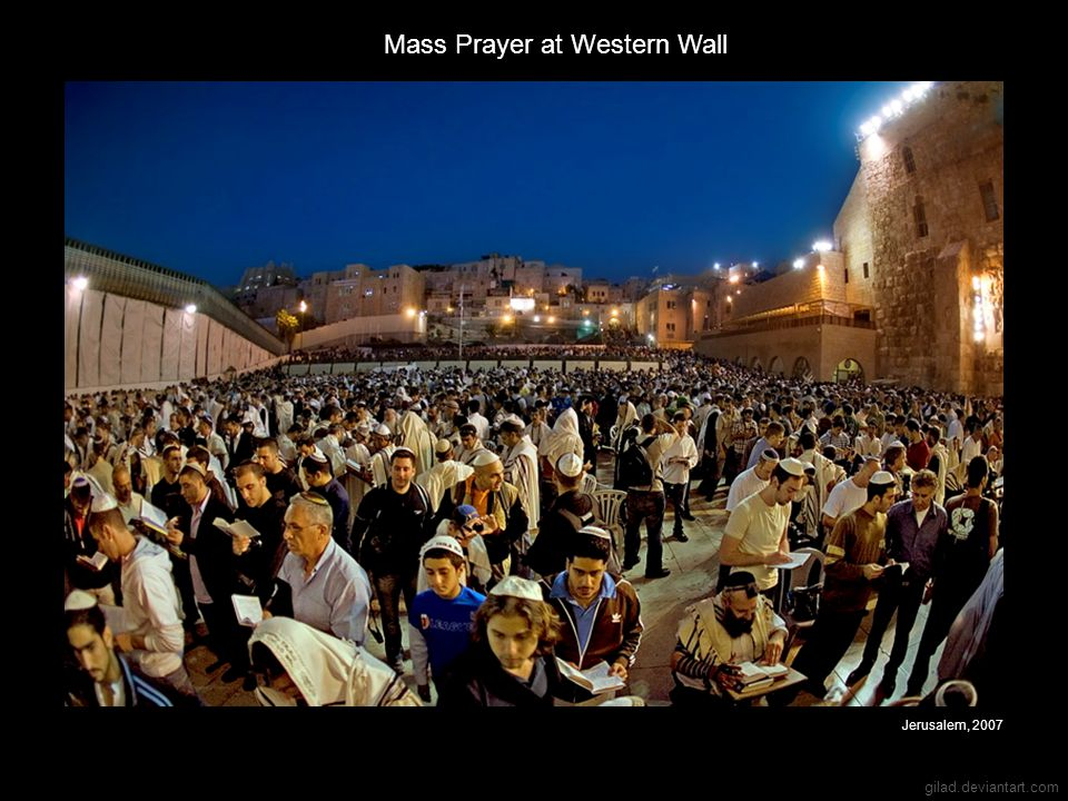 Mass Prayer at Western Wall