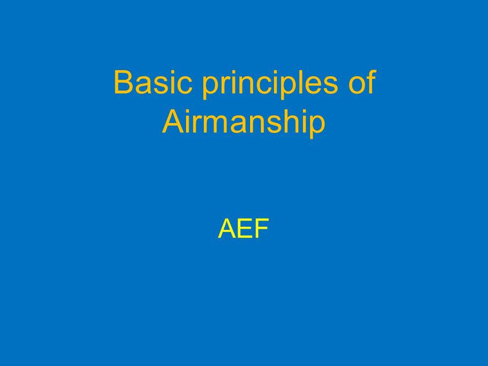 Basic principles of Airmanship AEF