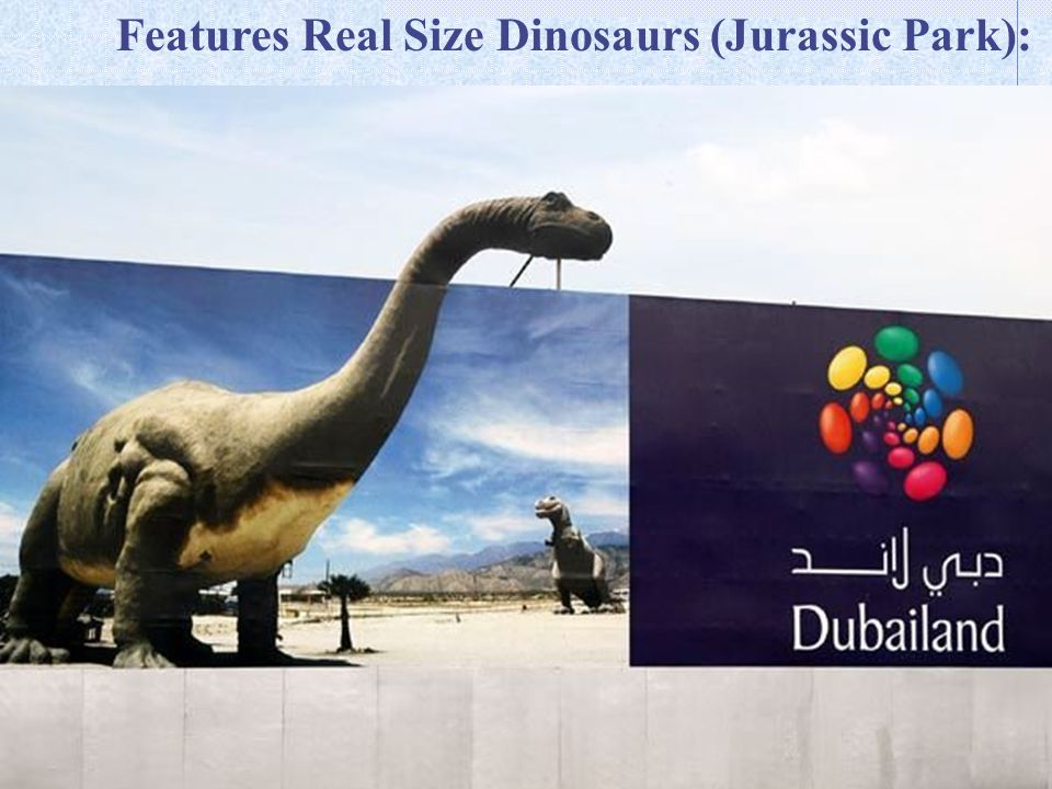 Features Real Size Dinosaurs (Jurassic Park):
