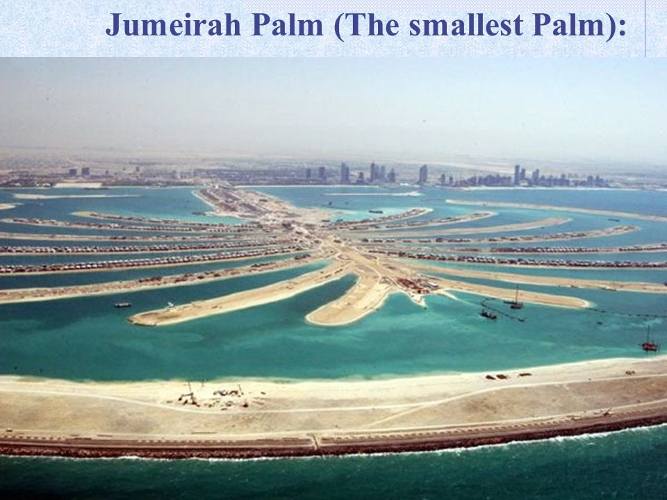 Jumeirah Palm (The smallest Palm):