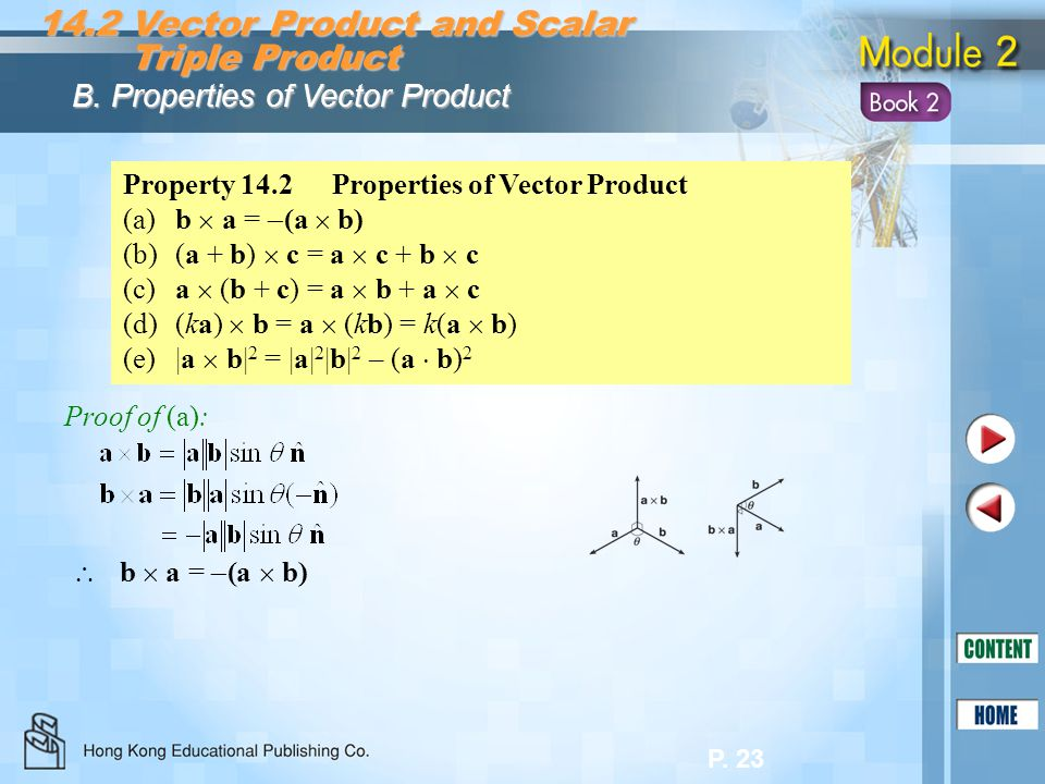 14.2 Vector Product and Scalar Triple Product