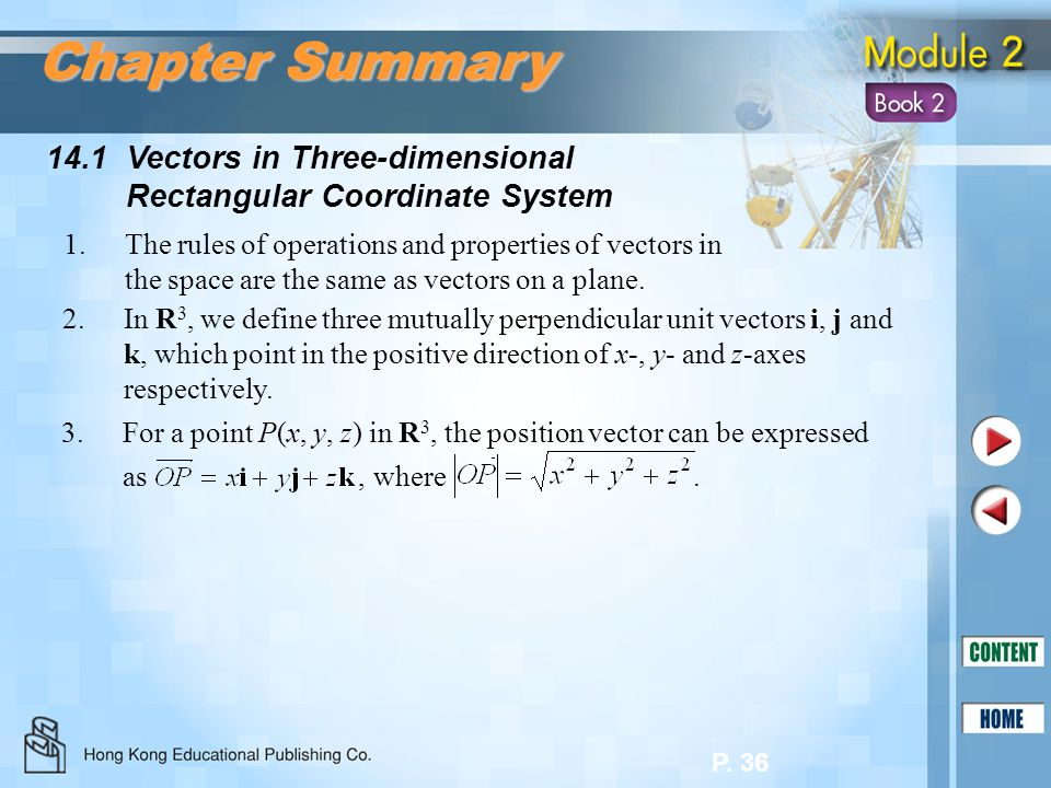 Chapter Summary 14.1 Vectors in Three-dimensional