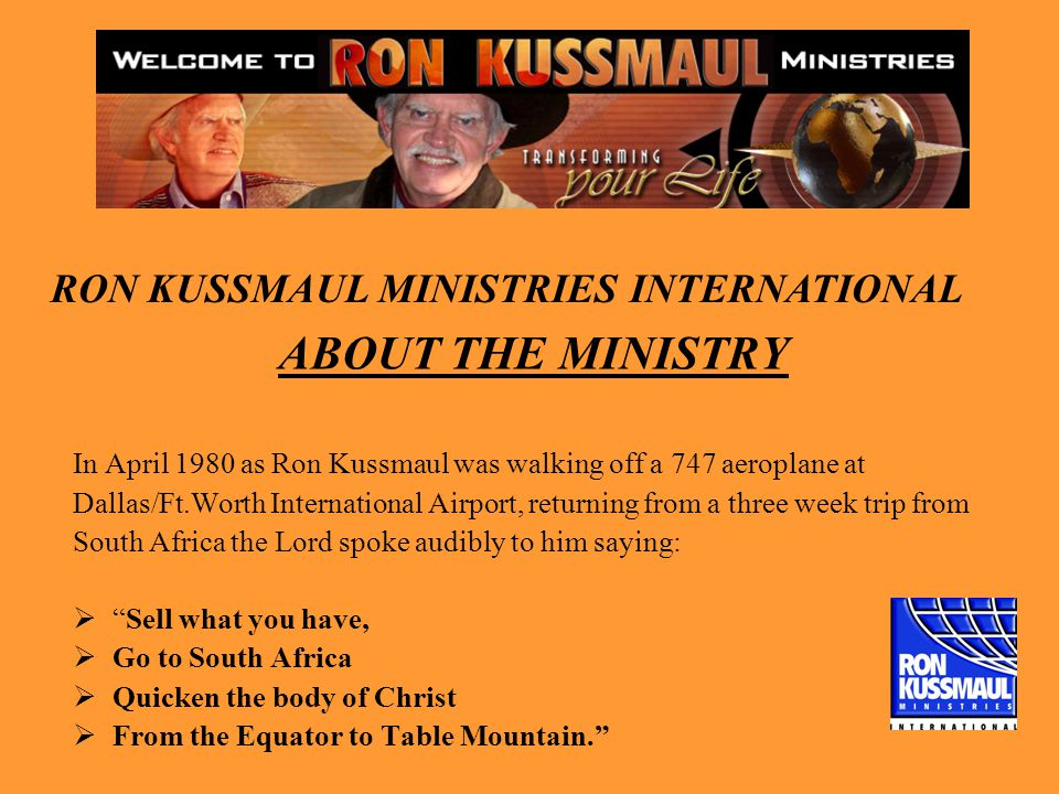 RON KUSSMAUL MINISTRIES INTERNATIONAL