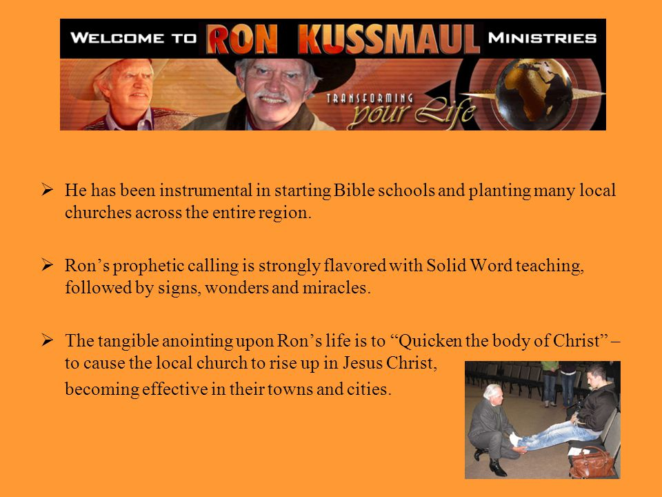 He has been instrumental in starting Bible schools and planting many local churches across the entire region.