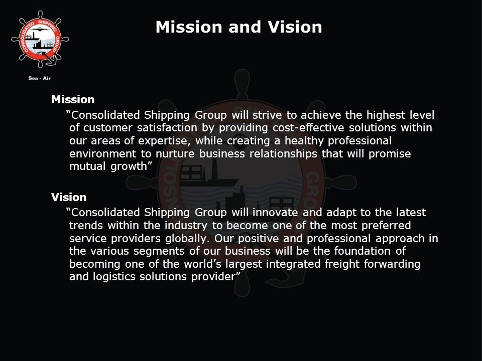 Mission and Vision Mission