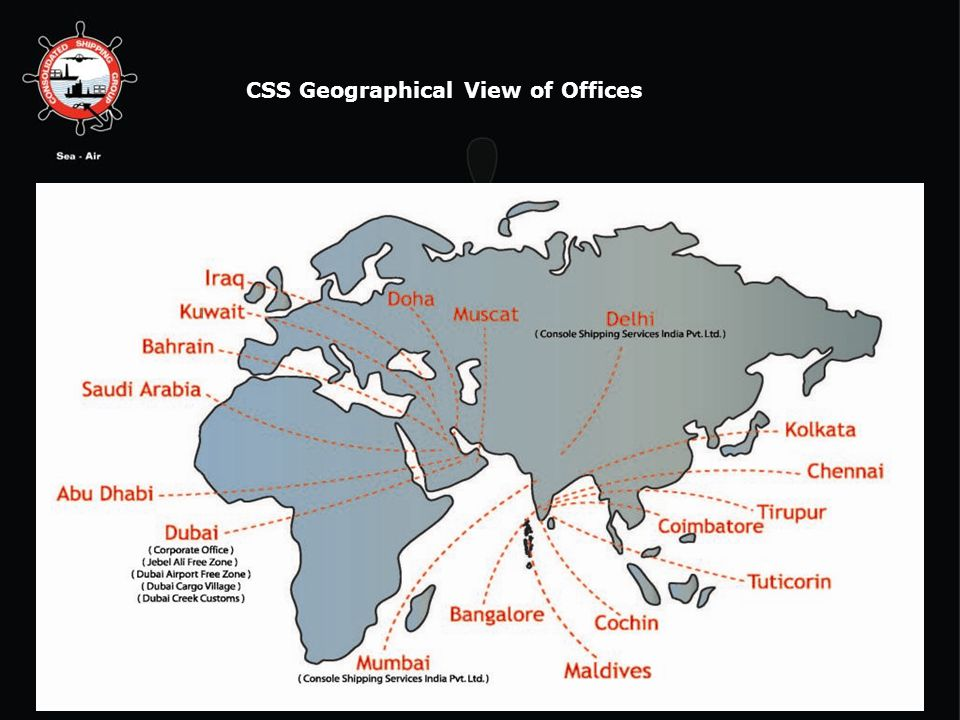 CSS Geographical View of Offices