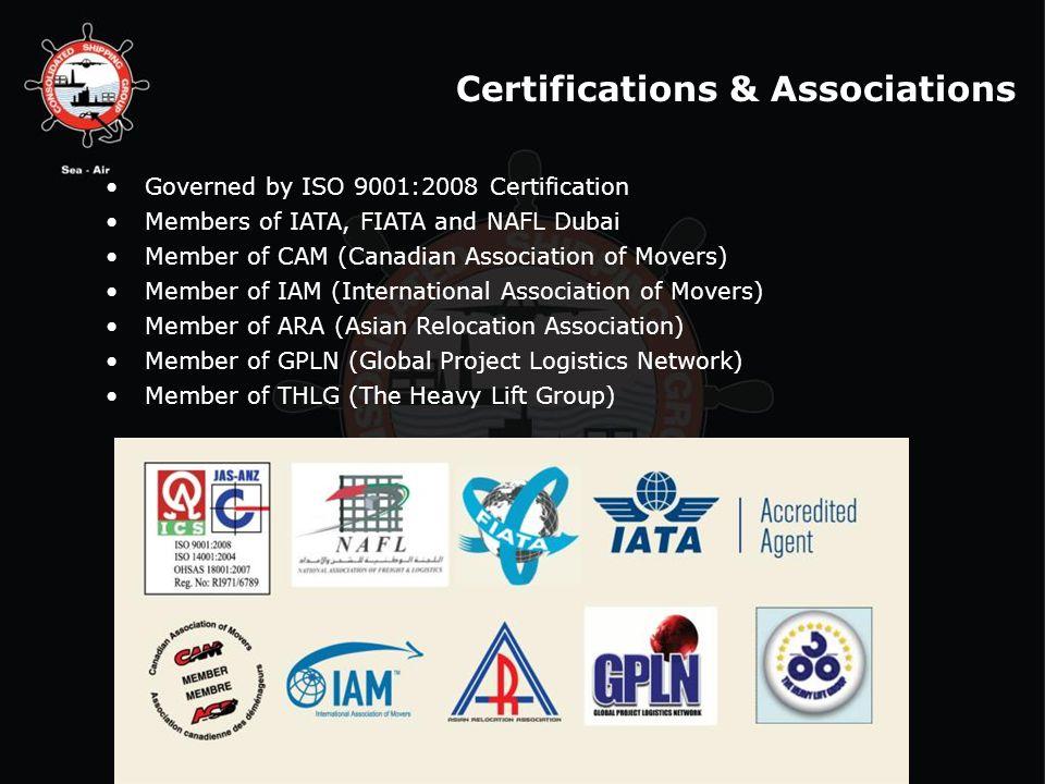 Certifications & Associations