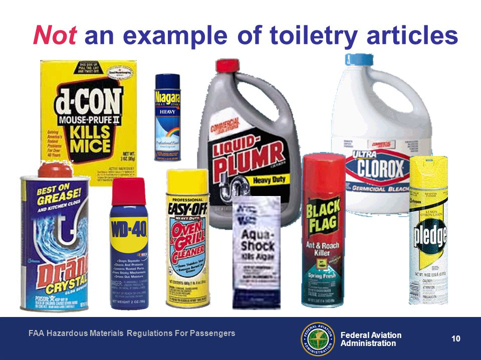 Not an example of toiletry articles