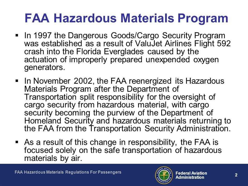 FAA Hazardous Materials Program