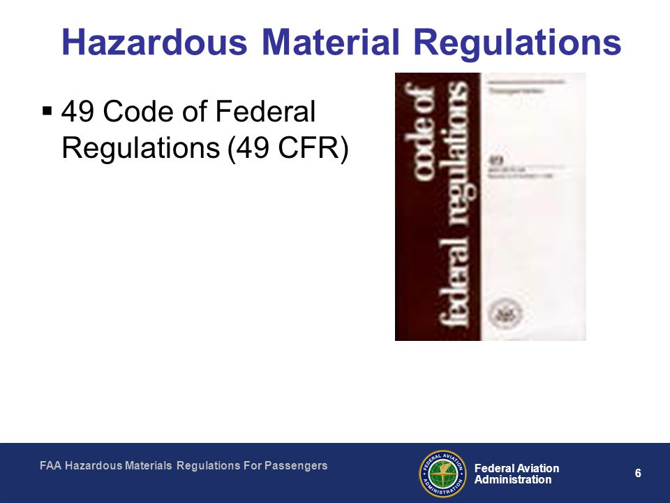 Hazardous Material Regulations