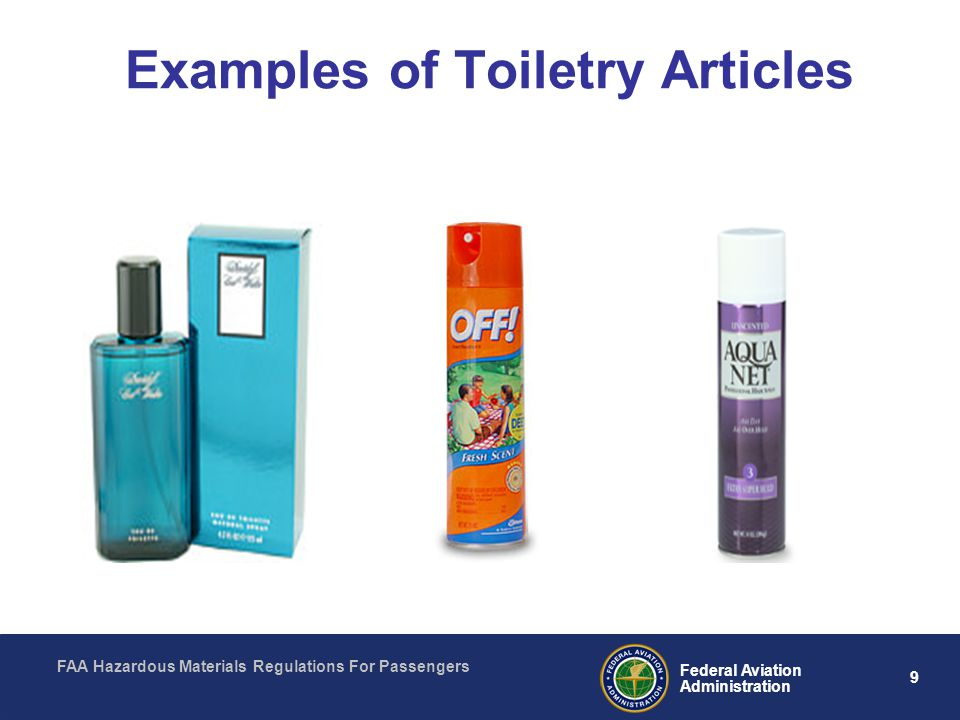 Examples of Toiletry Articles